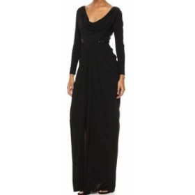 Adrianna Papell アドリアーナ パペル ファッション ドレス Adrianna Papell Womens Dress Black Size 14 Embellished V-Neck Gown