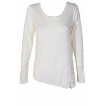 kensie ケンジー ファッション トップス Kensie Blanco Lace-Trim Cuello Redondo Jersey M