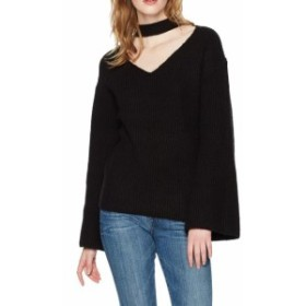 bell ベル ファッション トップス Guess Womens Deep Black Size XS Choker V-Neck Bell Sleeve Blouse