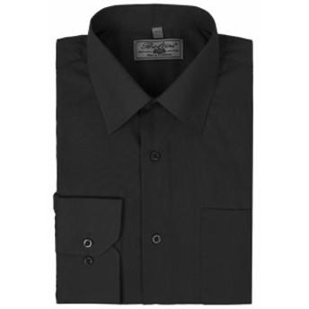 ファッション ドレス Mens Solid Long Sleeve Formal Button Up French Convertible Cuff Dress Shirt