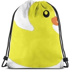 ゴム製のアヒル大人のための3Dプリント巾着バックパックリュックサックショルダーバッグジムバッグ16.9 x 14インチ