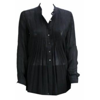 Alfani  ファッション ドレス Alfani Black Pintuck Roll Tab Sleeve Woven