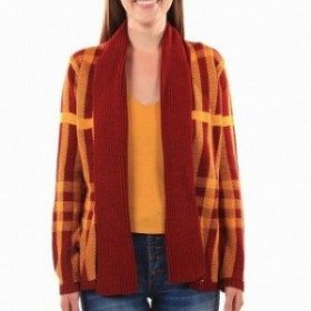 Gold ゴールド ファッション トップス Absolutely NEW Gold Cardinal Womens Size XS Cardigan Plaid Sweater