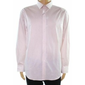 Alfani  ファッション ドレス Alfani Mens Dress Shirt Pink Size 15 1/2 Geo Print Sim Fit Stretch