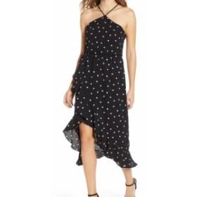 Lush ラッシュ ファッション ドレス LUSH NEW Black White Polkadot Print Ruffled Halter Small S Shift Dress