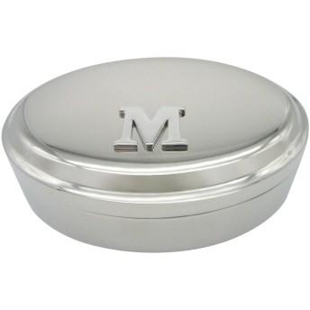 文字M モノグラムペンダント 楕円形 トリンケットジュエリーボックス