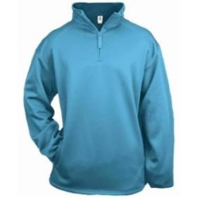 スポーツ用品 ベースボール Badger Mens 1/4 Zip Poly Fleece Pullover