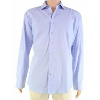 Kenneth Cole ケネスコール ファッション ドレス Kenneth Cole Reaction Mens Dress Shirt Blue Size 17 Technicole Stretch