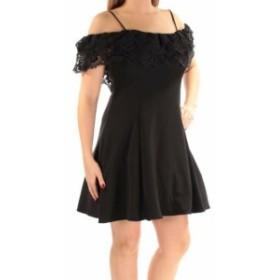 Betsy & Adam ベッツィアンドアダム ファッション ドレス Betsy & Adam NEW Black Womens 6 Off Shoulder Tiered Lace A-Line Dress