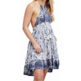 Free People フリーピープル ファッション ドレス Free People Blue Womens Size Small S Halter Printed Shift Dress
