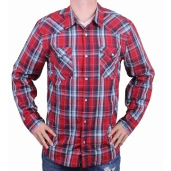 Levis リーバイス ファッション アウター NEW LEVIS MENS CLASSIC COTTON CASUAL BUTTON UP LONG SLEEVE PLAID RED 3LYLW1262