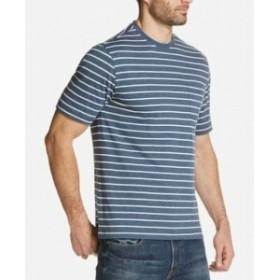 Weatherproof ウォータープルーフ ファッション トップス Weatherproof NEW Blue Mens Medium M Stripe Pocket Crewneck T-Shirt Tee #03