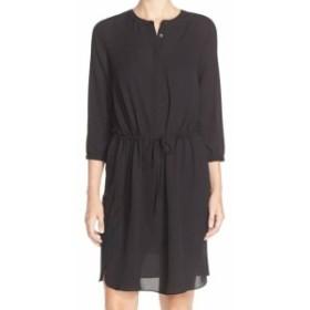 NYDJ  ファッション ドレス NYDJ NEW Black Womens Size XL Button Front Pleatedd Back Shirt Dress