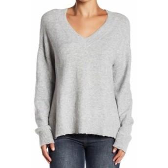 Melrose  ファッション トップス Melrose & Market Womens Gray Size XL Distressed V-Neck Sweater