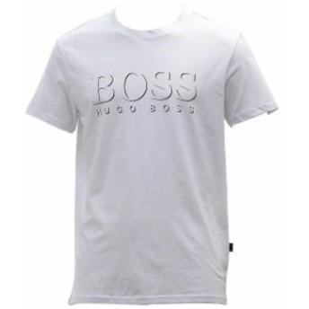BOSS ボス ファッション トップス Hugo Boss Mens Cotton Logo Natural Crew Neck Short Sleeve T-Shirt Sz: S