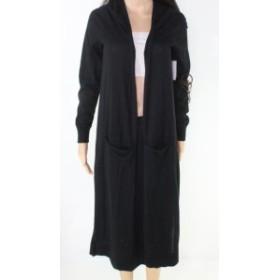 ファッション トップス Susina Womens Black Size Large L Longline Open Cardigan Sweater