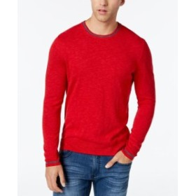 Red  ファッション トップス INC NEW Licorice Red Grey Mens Size XL Crewneck Contrast Sweater