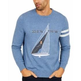 nautica ノーティカ ファッション トップス Nautica NEW Palm Spring Blue Mens Size XL Embroidered Crewneck Sweater