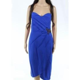Sea シー ファッション ドレス London Dress Company Womens Sea Blue Size 12 Embellished Sheath Dress #296