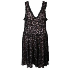 ファッション ドレス Trixxi Black Sleeveless Lace A-Line Dress 22W