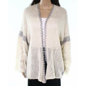 One  ファッション トップス Do Everything in Love NEW White Ivory Grey One Size Cardigan Sweater