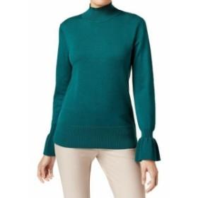 ファッション トップス Cable & Gauge NEW Green Womens Size Large L Flared Cuff Pullover Sweater