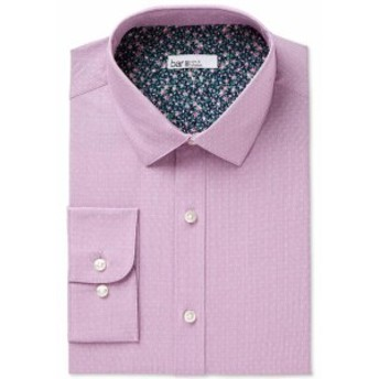 ファッション ドレス BAR III NEW Purple Men Small S Slim Fit Dobby Dot Stretch Dress Shirt