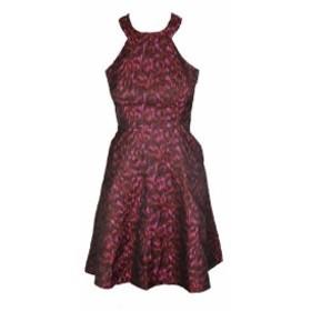 Calvin Klein カルバンクライン ファッション ドレス Calvin Klein Petite Re Multi Sleeveless Printed Fit & Flare Halter Dress 2P