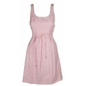 ファッション ドレス Pappagallo Pink Sleeveless Shadow-Stripe Fit & Flare Dress 6