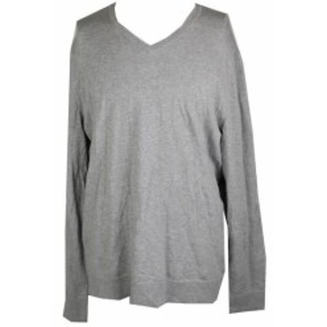 HEATHER  ファッション トップス ALFANI gray heather sweater neck v xl