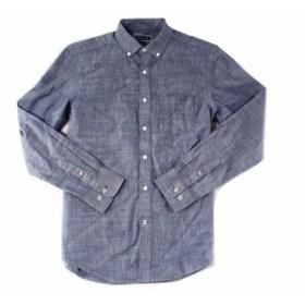 ファッション アウター Club Room Mens Shirt Blue Size Small S Button-Front Chambray Long-Sleeve