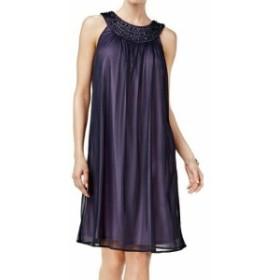 Jessica Howard ジェシカハワード ファッション ドレス Jessica Howard NEW Purple Womens Size 16 Embellished Neck Shift Dress