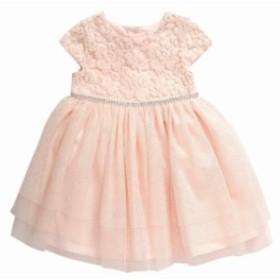 ファッション ドレス Youngland Girls Dress Pink Size 12 Months Metallic-Dot Tulle Texture
