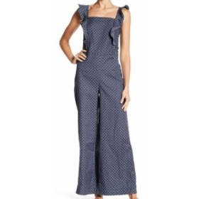 max マックス ファッション ジャンプスーツ Max Studio NEW Blue Patterned Wide Leg Womens Size XS Jumpsuit