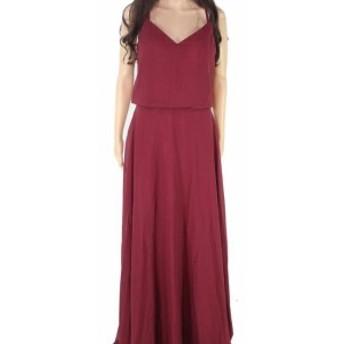 ファッション ドレス Designer Brand Womens Purple Size 6 V-Neck Blouson Sheath Dress