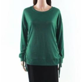ファッション トップス ABSOLUTE CREATIVE WORLD Green Small S Junior Pullover Side Tie Sweater
