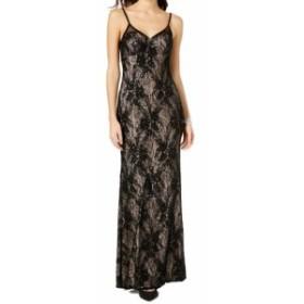 ファッション ドレス Xscape NEW Black Womens Size 4 Sequined Lace V-Neck Mesh Back Gown