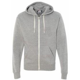 America  ファッション トップス J America Mens Triblend Full-Zip Fleece Hood JA8872 XS-2XL