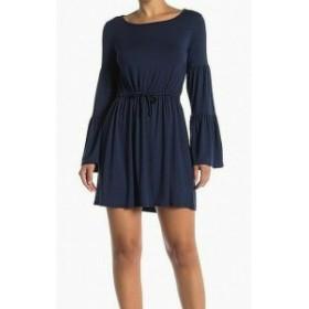 ファッション ドレス Go Couture Womens Blue XL Drawstring A-Line Scoop Neck Sheath Dress