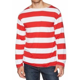 Red  ファッション 衣類 elope NEW Red Size S/M Wheres Waldo Adult 3 Piece Costume Kit Set
