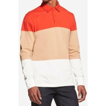 DKNY ダナキャランニューヨーク ファッション アウター DKNY Mens Red Beige White Size Large L Colorblock Polo Rugby Shirt