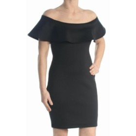 GUESS ゲス ファッション ドレス Guess NEW Black Womens Size Small S Scuba Bodycon Ruffle Sheath Dress