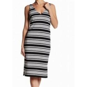 Betsey Johnson ベッツィージョンソン ファッション ドレス Betsey Johnson NEW Black Womens Size 0 Striped V-Neck Sheath Dress