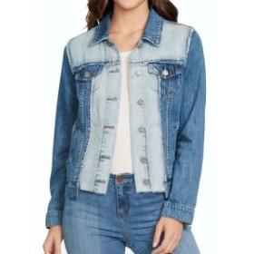 William Rast ウィリアムラスト ファッション 衣類 William Rast NEW Blue Womens Size Medium M 2-Tone Frayed Denim Jacket