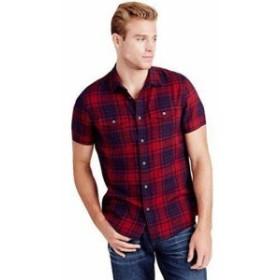 Religion  ファッション アウター True Religion Mens Western Plaid Slim Fit Utility Button Shirt in Academy
