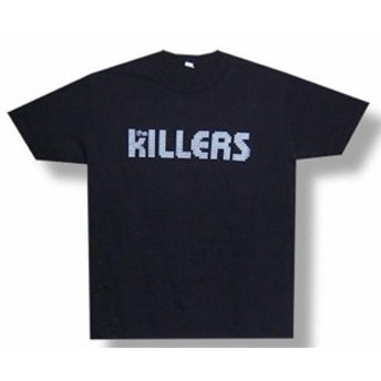 ファッション トップス The Killers-Silver Logo-X-Large Black Lightweight T-shirt