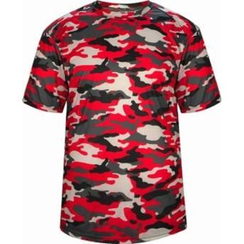 スポーツ用品 ベースボール Badger Sport Mens Forest Camo T-Shirt