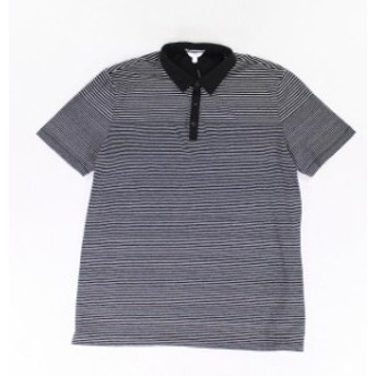 Calvin Klein カルバンクライン ファッション アウター Calvin Klein NEW Black Gray Mens Size 2XL Striped Polo Rugby Shirt