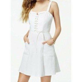 XOXO キスハグ ファッション ドレス XOXO Womens White Size Small S Sweetheart Neck Lace-Up A-Line Dress