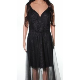 Hayley Paige ヘイリーペイジ ファッション ドレス Hayley Paige NEW Black Mesh Veil Overlay Womens Size 10 Sheath Dress
